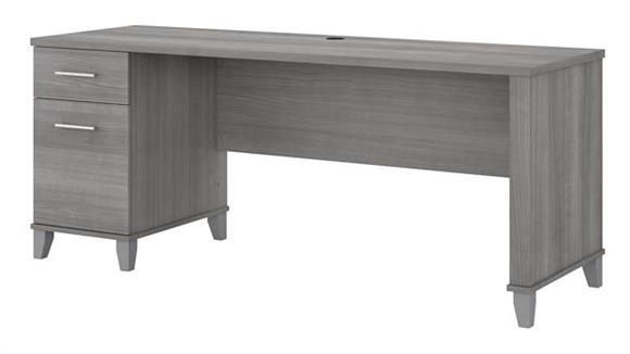 "Computer Desks Bush 72""W Office Desk with Drawers"