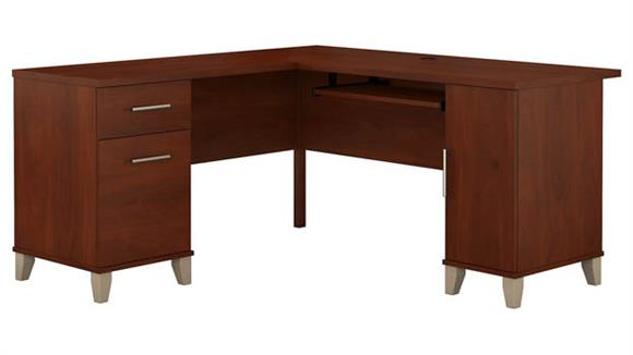 "L Shaped Desks Bush 60"" L Shaped Desk"