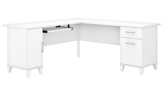 "L Shaped Desks Bush 72""W L-Shaped Desk with Storage"