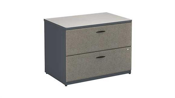 File Cabinets Lateral Bush 2 Drawer Lateral File - Fully Assembled