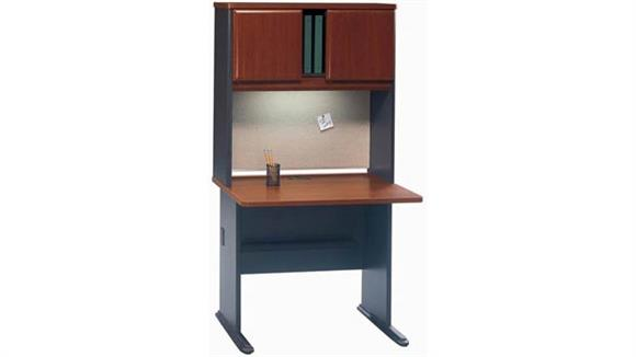 "Modular Desks Bush 36"" Desk with Hutch"