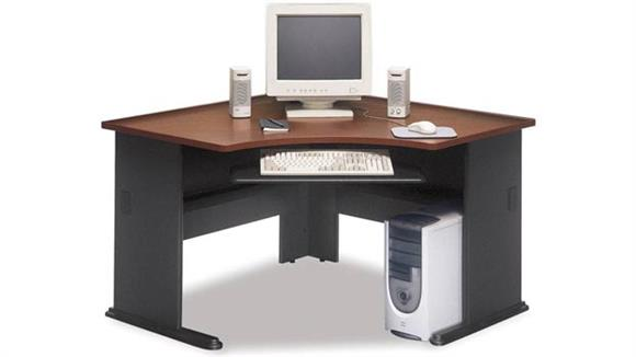 Corner Desks Bush Modular Corner Desk with Keyboard Tray