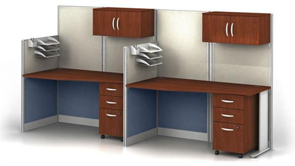 Workstations & Cubicles Bush Set of 2 Workstations with Storage