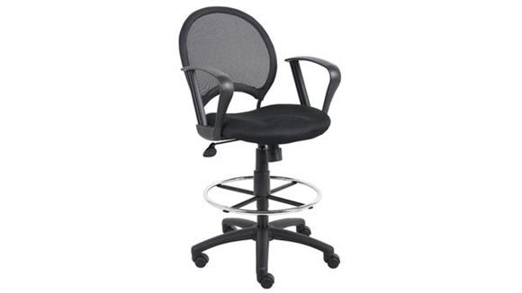 Drafting Stools Boss Office  Chairs  Mesh Drafting Stool with Loop Arms