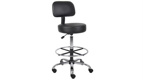 Drafting Stools Boss Office  Chairs  Medical Drafting Stool with Back