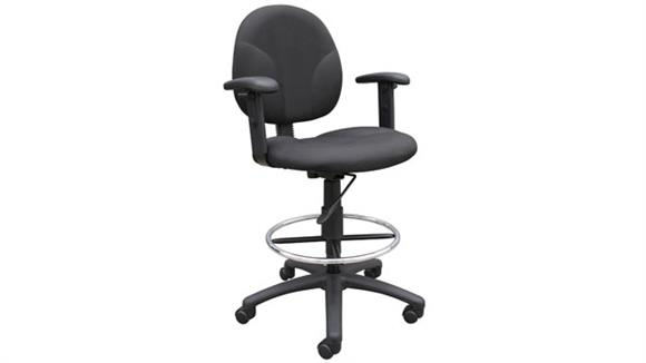 Drafting Stools Boss Office  Chairs  Drafting Stool with Adjustable Arms