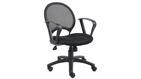 Office Chairs Boss Office  Chairs  Mesh Task Chair with Loop Arms