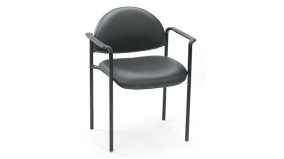 Stacking Chairs Boss Office  Chairs  Black Caressoft Stack Chair