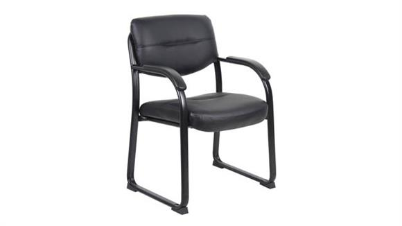 Side & Guest Chairs Boss Office  Chairs  Leather Guest Chair with Padded Arms