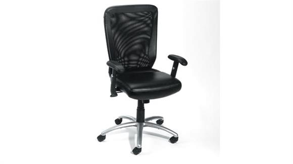 Office Chairs Boss Office  Chairs  Mesh Back Task Chair with Chrome Base