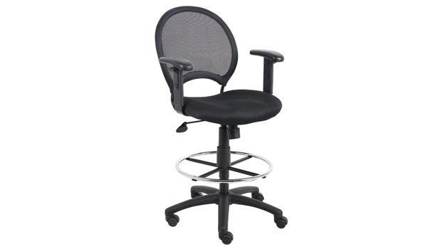Astounding Boss Office Chairs Mesh Drafting Stool With Adjustable Arms Dailytribune Chair Design For Home Dailytribuneorg