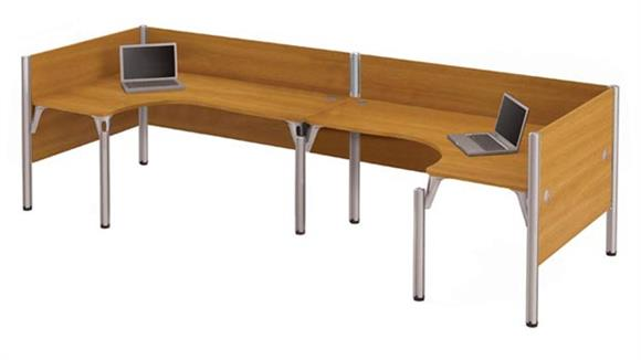 Workstations & Cubicles Bestar Double Back to Back L Shaped Workstation