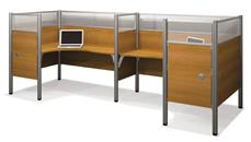 Workstations & Cubicles Bestar Double Back to Back L Shaped Workstation