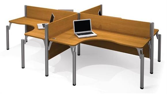 Workstations & Cubicles Bestar Quad L Shaped Workstation