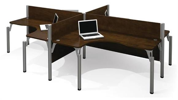 Workstations & Cubicles Bestar Quad L Shaped Workstation