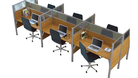 Workstations & Cubicles Bestar Six Person Telemarketing Workstation