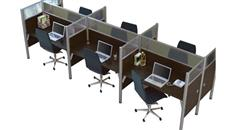 Workstations & Cubicles Bestar Six Person Telemarketing Workstation
