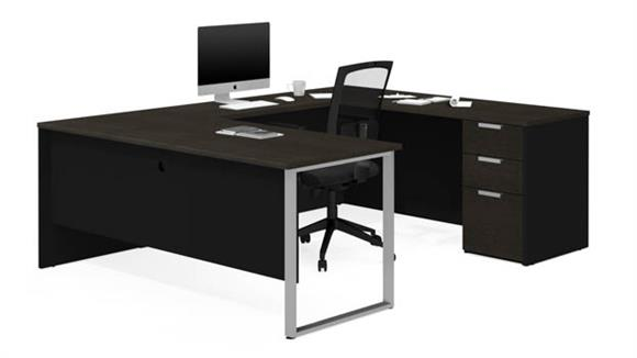 U Shaped Desks Bestar U-Shaped Desk