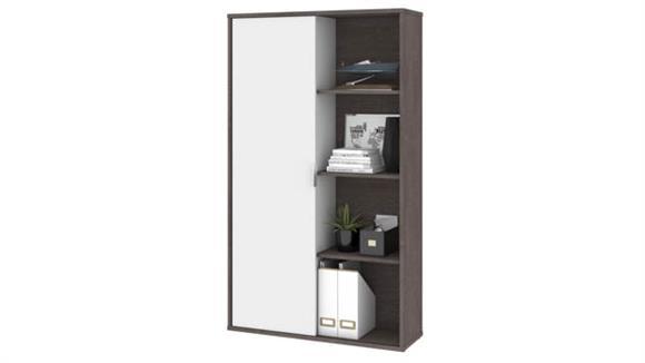 Bookcases Bestar Bookcase with Sliding Door