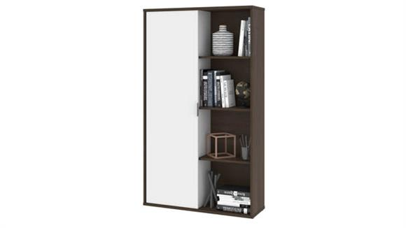 Bookcases Bestar Bookcase with Sliding Door