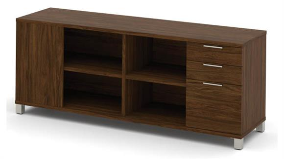 Office Credenzas Bestar Credenza with Three Drawers