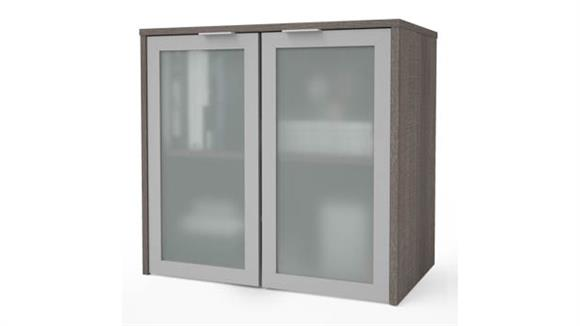 "Hutches Bestar 30""W Hutch with Frosted Glass Doors"