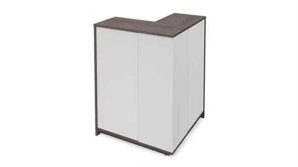 Storage Cabinets Bestar Outer Corner Storage Unit