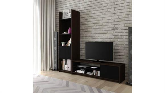 TV Stands Bestar 2-Piece TV Stand and Storage Tower Set