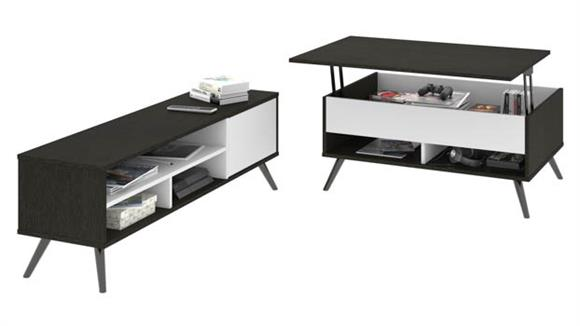 """TV Stands Bestar 37"""" Lift-Top Storage Coffee Table and 53.5"""" TV Stand"""