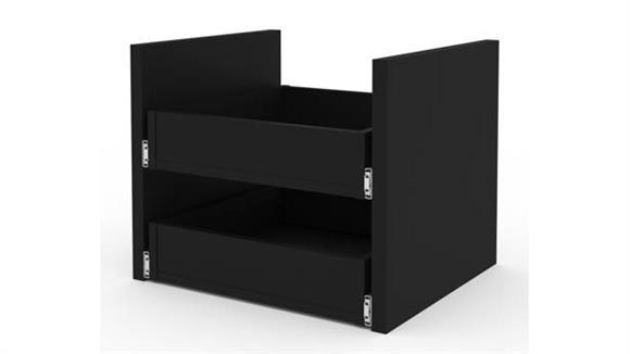 Storage Cabinets Bestar 2-Drawer Set for Stackable Storage Cabinet