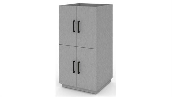 Storage Cabinets Bestar 2 Stackable Cabinets