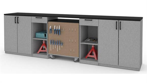 Benches Bestar 4-Piece Workbench Set