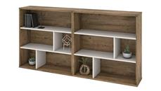 Bookcases Bestar 2-Piece Asymmetrical Shelving Unit Set