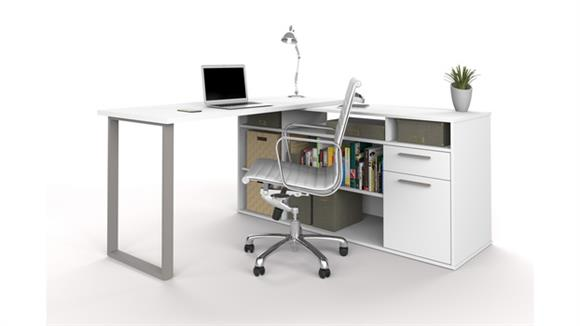 L Shaped Desks Bestar L-Shaped Desk