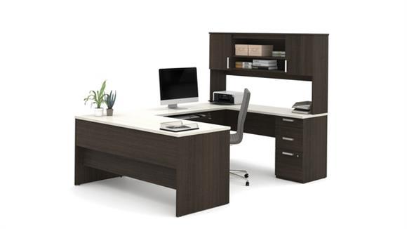 U Shaped Desks Bestar U-Shaped Desk