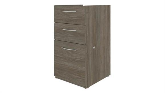 """Desk Accessories Bestar 15""""W 3 Drawer Pedestal"""