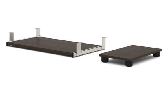 Desk Accessories Bestar Keyboard Shelf and CPU Platform