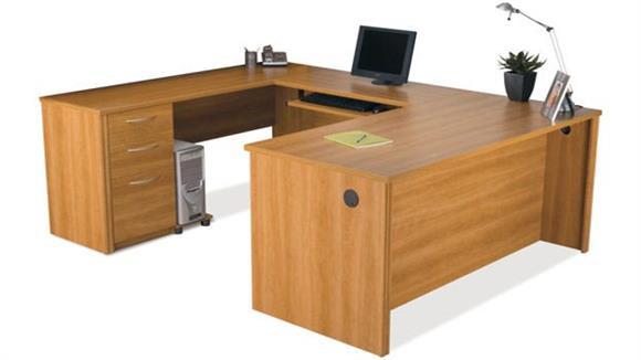 U Shaped Desks Bestar U Shaped Desk