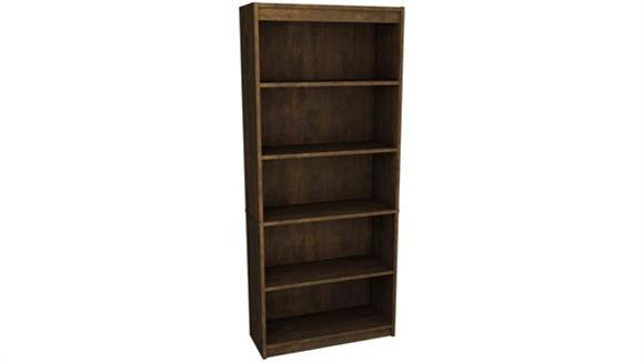 "Bookcases Bestar 72"" Chocolate Bookcase with 5 Shelves"