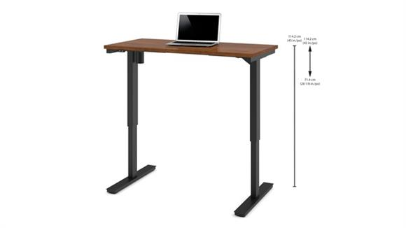"Adjustable Height Tables Bestar 24"" x 48"" Electric Height-Adjustable Table"