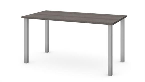 """Computer Tables Bestar 30"""" x 60"""" Table with Square Metal Legs"""