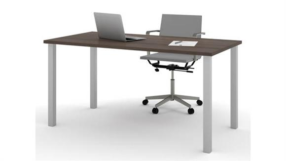 "Computer Tables Bestar 30"" x 60"" Table with Square Metal Legs"