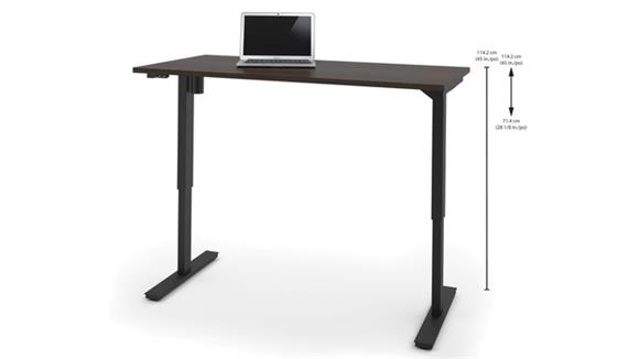 "Adjustable Height Tables Bestar 30"" x 60"" Electric Height-Adjustable Table"