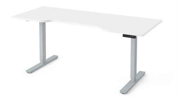 "Adjustable Height Tables Bestar 30"" x 72"" Curved Electric Height Adjustable Table"
