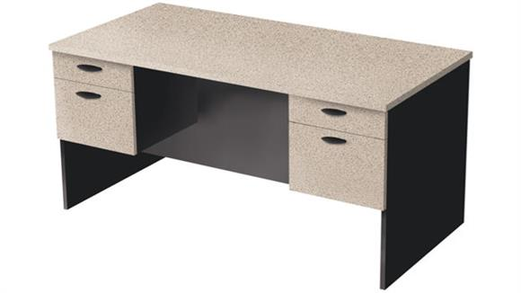 Executive Desks Bestar Double Pedestal Executive Desk