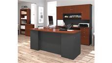 U Shaped Desks Bestar U Shaped Desk with Lateral File and Bookcase