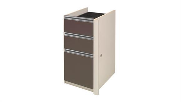 File Cabinets Vertical Bestar 3 Drawer Pedestal