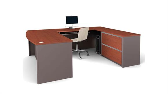 U Shaped Desks Bestar Bow Front U Shaped Desk 93865