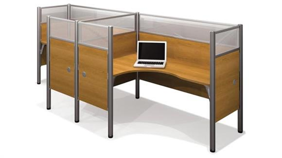 Workstations & Cubicles Bestar Double L Shaped Workstation