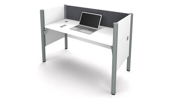 Workstations & Cubicles Bestar Simple Workstation - White with Tack Board
